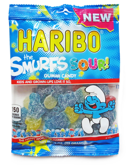 Haribo Smurfs Sour 4oz./113 grams (6 pack)