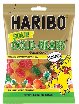 Haribo Sour Gold Bears 4.5oz./127 grams (6 Pack)