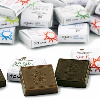 "Lake Champlain Chocolates - Organic ""Dark Chocolate Squares 72%"", Dark Chocolate 72% Cocoa, .4 oz."