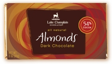 "Lake Champlain Chocolates - ""Almonds"" Bar, Dark Chocolate, 54% cocoa, 3 oz. (Single)"