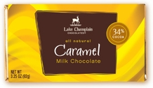 "Lake Champlain Chocolates - ""Caramel"" Filled Bar, Milk Chocolate, 34% Cocoa, 3.25 oz. (5 Pack)"