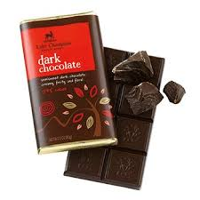 "Lake Champlain Chocolates - ""Dark"" Semisweet Dark Chocolate;Creamy, Fruity, and Floral 54% cocoa, 3 oz/85g. (Single)"