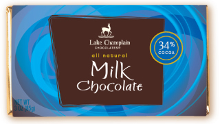 "Lake Champlain Chocolates - ""Milk"" Bar, Milk Chocolate, 34% Cocoa, 3 oz (Single)."