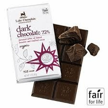 "Lake Champlain Chocolates - ""Organic Dark Chocolate 72%"" Forward Notes of Baked Brownie and Roasted Cocoa 72% Cocoa, 3oz/ 85g"