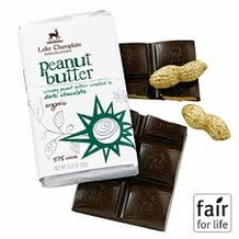 "Lake Champlain Chocolates - ""Organic Peanut Butter"" Creamy Peanut Butter cradled in Dark Chocolate 57% Cocoa, 3.25 oz."