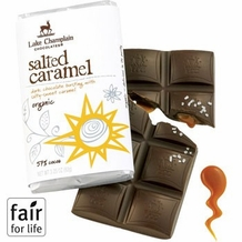 "Lake Champlain Chocolates - ""Organic Salted Caramel"" Dark Chocolate Bursting with Salty-Sweet Caramel 57% Cocoa, 3.25oz/ 92g"