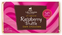 "Lake Champlain Chocolates - ""Raspberry Truffle"" Filled Bar, Dark Chocolate, 54% Cocoa, 3.25 oz. (Single)"