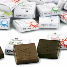 "Lake Champlain Chocolates - Organic ""Peruvian Dark Squares"", Single Origin, Dark Chocolate 70% Cocoa, .4 oz."