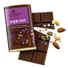"Lake Champlain Chocolates - ""Triple Nut"" Bar, Milk Chocolate with Almonds,Pistachios,Cashews and Sea Salt, 38% Cocoa, 3 oz./85g (6 Pack)"