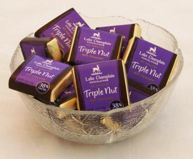 "Lake Champlain Chocolates - ""Triple Nut Milk Squares"", Milk Chocolate 38% Cocoa, .4 oz."