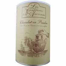 Les Confitures 'a l' Ancienne - Award Winning Powdered Hot Chocolate, 1kg/2.2lbs.(Single)
