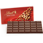 Lindt Chocolate - Bittersweet Chocolate with Chopped Hazelnuts, 100g/3.5oz.  (6 Pack)