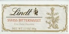 Lindt Bittersweet Dark Chocolate Bars - 100g / 3.5oz