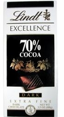 Lindt Chocolate - Excellence 70% Cocoa Dark Chocolate Bar, 100g/3.5oz.