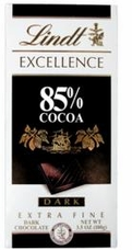 Lindt Chocolate - Excellence 85% Cocoa Dark Chocolate Bar, 100g/3.5oz (Single).