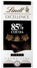 Lindt Chocolate - Excellence 85% Cocoa Dark Chocolate Bar, 100g/3.5oz.