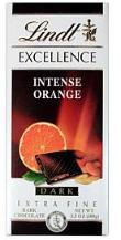Lindt Chocolate - Excellence Dark Chocolate with Intense Orange, 100g/3.5oz.