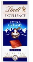 Lindt Chocolate - Excellence Extra Creamy Milk Chocolate Bar, 100g/3.5oz. (12 Pack)