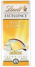 Lindt Chocolate - Excellence White Chocolate with Coconut, 100g/3.5oz.