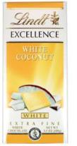 Lindt Chocolate - Excellence White Chocolate with Coconut, 100g/3.5oz. (12 Pack)