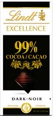 "Lindt Chocolate - Lindt Excellence ""99% Cocoa"", 50g/1.8oz. (6 Pack)"
