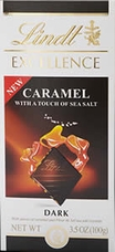 "Lindt Chocolate - Lindt Excellence ""Caramel Dark with A Touch of Sea Salt"", 100g/3.5oz."