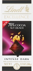 """Lindt Chocolate - Lindt Excellence """"Dark 70% Cocoa Nut Crunch"""", 100g/3.5oz."""