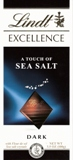 "Lindt Chocolate - Lindt Excellence ""Dark Chocolate with a touch of Sea Salt"", 3.5oz./100g"