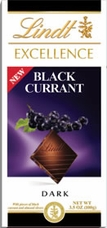 "Lindt Chocolate - Lindt Excellence ""Dark Chocolate with Black Currant"", 100g/3.5oz."