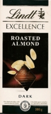 "Lindt Chocolate - Lindt Excellence ""Dark Chocolate with Roast Almond Slices"", 3.5oz./100g"