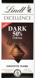 """Lindt Chocolate - Lindt Excellence """"Sweet Dark Chocolate Cocoa, 3.5oz./100g (6 Pack)"""