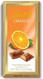 Lindt Chocolate - Milk Chocolate With Orange Filling, 100g/3.5oz. (6 Pack)