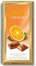 Lindt Chocolate - Milk Chocolate With Orange Filling, 100g/3.5oz. (Single)