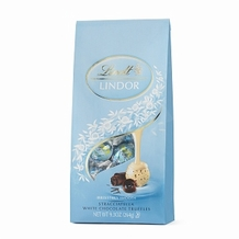 "Lindt Chocolate Truffle - Lindor Truffles ""STRACCIATELLA"" , 9.3oz Bag (Single)"