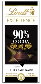 Lindt Swiss Chocolate - Excellence Supreme Dark Chocolate with 90% Cocoa, 100g/3.5oz. (6 Pack)