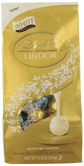 "Lindt Swiss Chocolate - Lindor Truffles ""White Assortment Chocolate with a Smooth Filling!"", White, Stracciatella and Vanilla 21 Piece Bag, 264g/9.3oz. (Single)"