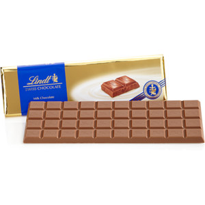 "Lindt Swiss Chocolate - Milk Chocolate ""Gold Wrap"" Bar, 300g/10.58oz. (10 Pack)"