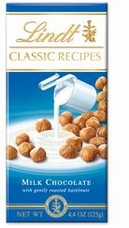 Lindt Swiss Chocolate - Milk Chocolate with Roasted Hazelnuts, 125g/4.4oz. (Single)
