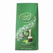 Lindt Truffle - Lindt Lindor Truffle Dark Chocolate / Mint (green wrap), 6 Bag Case