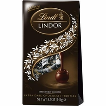 """Lindt Truffle - Lindt Lindor Truffles """"60% Extra Dark Chocolate with a smooth filling"""" 12 Piece Bag, 144g/5.1oz. (Single)"""