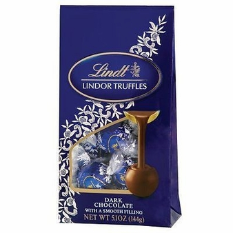 "Lindt Truffle - Lindt Lindor Truffles ""Dark Chocolate with a Smooth Filling"" 12 Piece Bag, 144g/5.1oz. (12 Pack)"