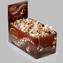 Lindt Truffle - Lindt Lindor Truffles Milk Chocolate / Hazelnut (brown wrap), 120ct. Box