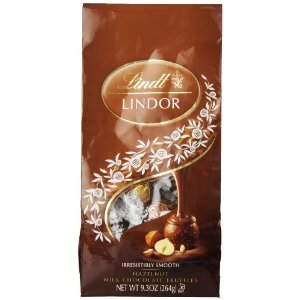 Lindt Truffle - Lindt Lindor Truffles Milk Chocolate / Hazelnut (brown wrap), 9.3oz bag (Single)