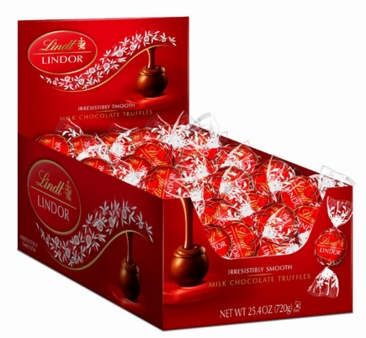 Lindt Truffle - Lindt Lindor Truffles Milk Chocolate (red wrap), 60ct. Box