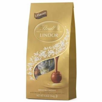 Lindt Truffle - Lindt Lindor Truffles Milk, Dark,60% Extra Dark, Peanut Butter and White 21 Piece assorted bag, 264g/9.3oz. (6 Pack)