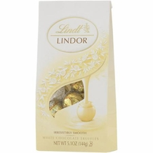 "Lindt Truffle - Lindt Lindor Truffles ""White Chocolate with a Smooth Filling"" 12 Piece Bag, 144g/5.1oz. (6 Pack)"