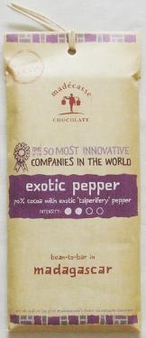 """Madecasse Chocolate """"Exotic Pepper"""", 63% cocoa,  75g/2.64oz. (Single)"""
