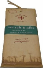 "Madecasse Chocolate - Madagascar Chocolate, ""Sea Salt & Nibs"", 75g/2.64oz. (10 pack)"
