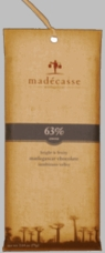 Madecasse Chocolate - Madagascar Dark Chocolate, 63% Cocoa, 75g/2.64oz. (10 Pack)