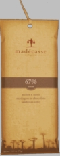 Madecasse Chocolate - Madagascar Dark Chocolate, 67% Cocoa, 75g/2.64oz (6 Pack).